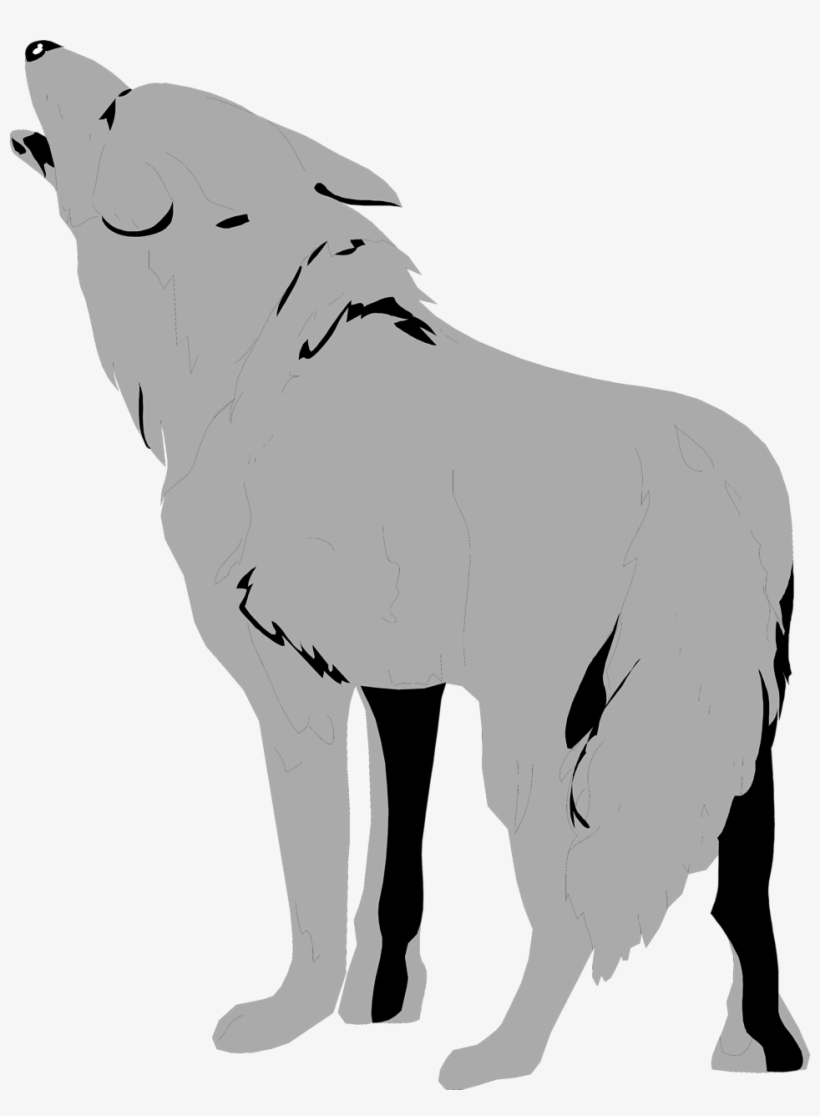 Wolf colorful. Clipart transparent background pencil