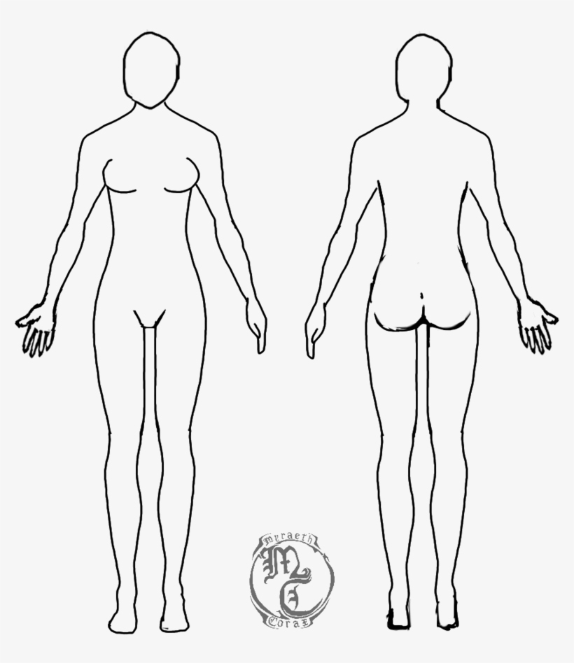 Drawing Format Person Cuerpo Humano Mujer Dibujo Transparent Png
