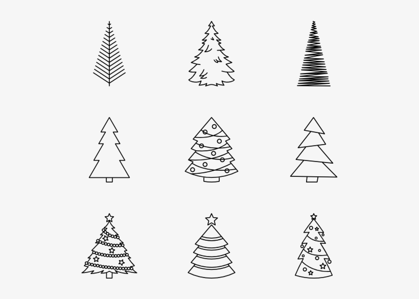 Image Result For Christmas Tree Vector Black And White Christmas