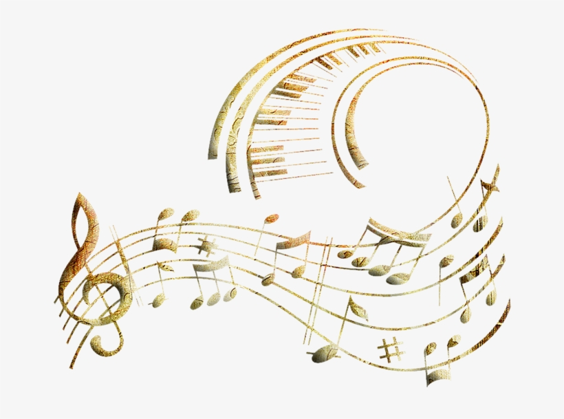 Music notes gold. Clipart soundtrack png transparent