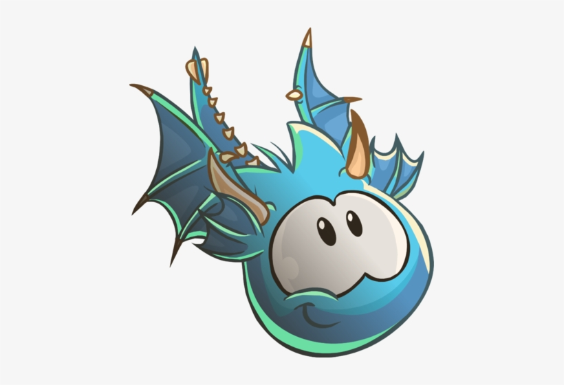 686afd49eecae Blue Puffle Dragon - Club Penguin Dragon Puffle Transparent PNG ...