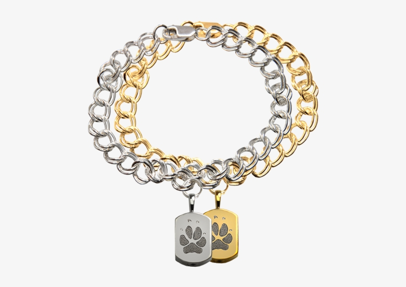 Wholesale Mini Dog Tag Charm Bracelet With Actual Pawprint Petite
