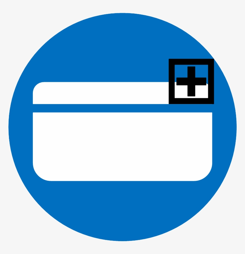 Vector Icon Of A Credit Card With A Plus Sign - Visa Card Icon