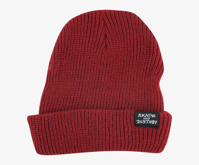 a1b5a8bba136c2 Thrasher Skategoat/skate & Destroy Beanie Maroon - Beanie, transparent png  download