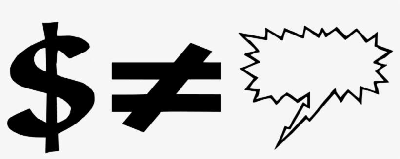 Dollar Symbol Vector Clip Art Graphics - Comic Book Text Box