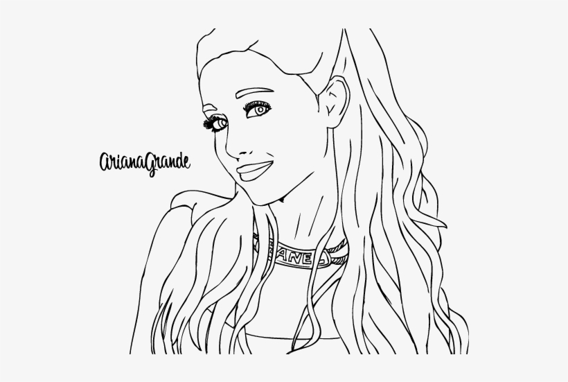 Ariana Grande With Necklace Coloring