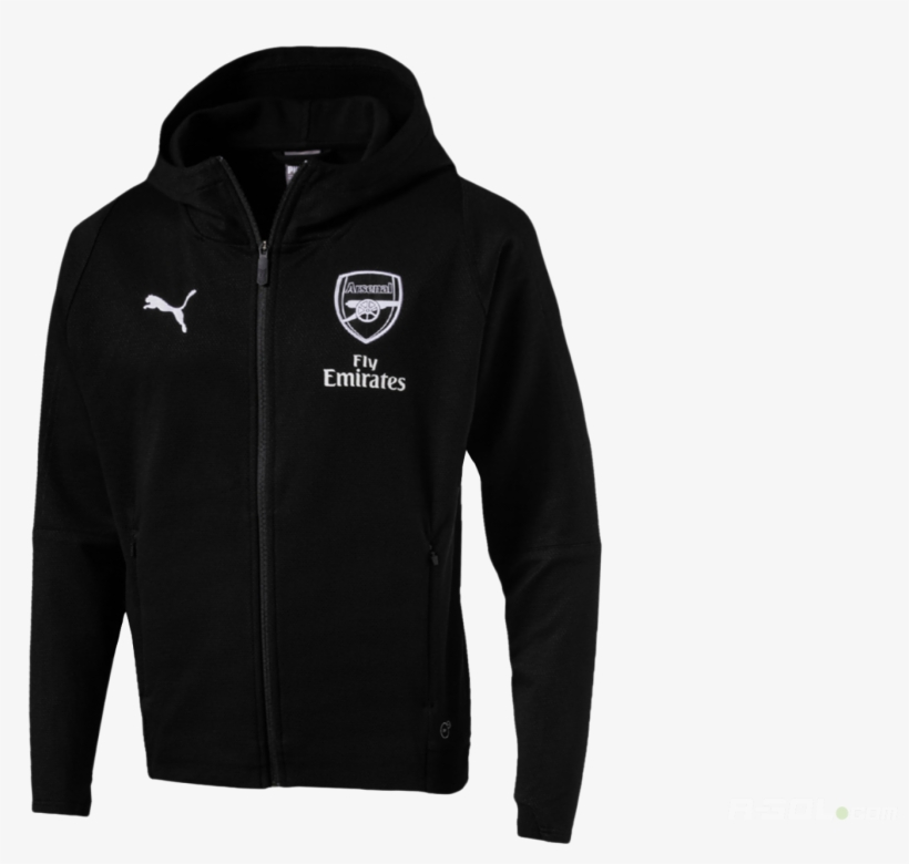 Arsenal Fc Casual Performance Hooded Jac Arsenal Black Transparent Png 1920x1278 Free Download On Nicepng