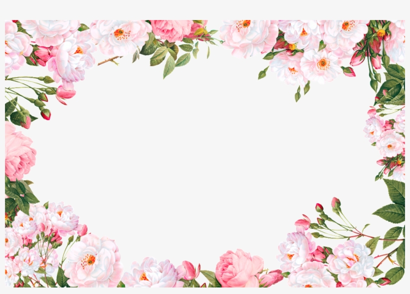 Beautiful Flowers Flowers And Lace Transparent Decoration Pink