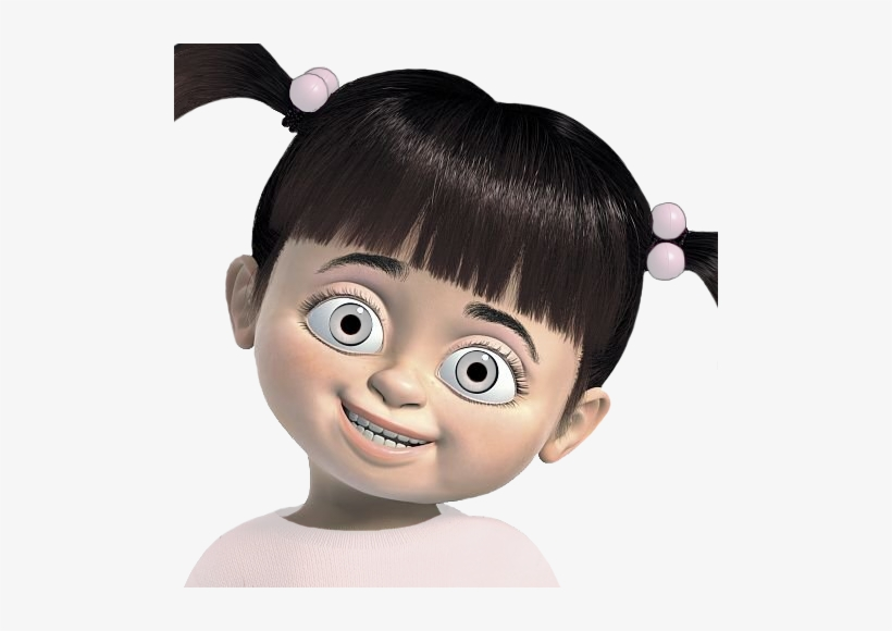 Cartoon Monsters Inc Boo Transparent Transparency Semi Girl