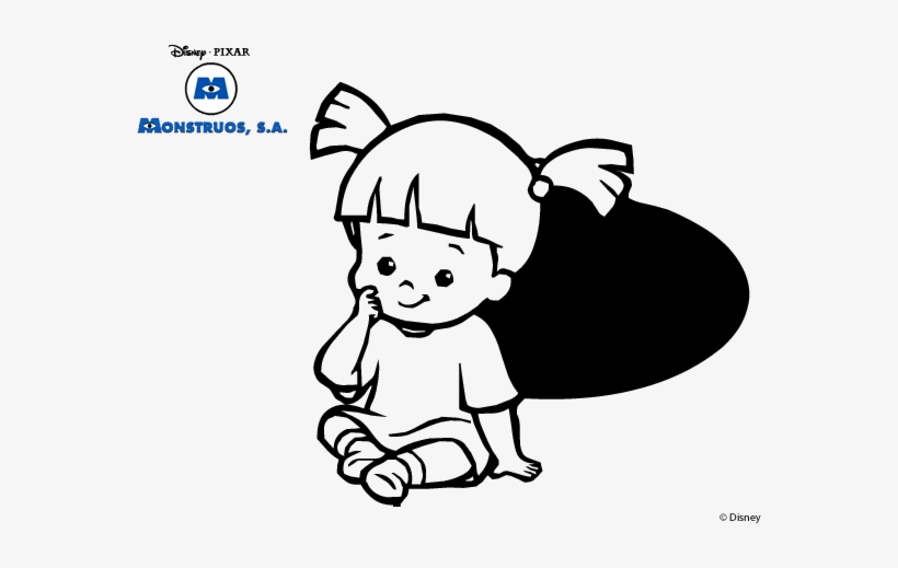 Monsters Inc - - Boo - Monsters Inc Coloring Pages Transparent PNG ...