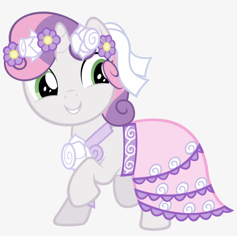 Sweetie Belle Wedding Dress - My Little Pony Sweetie Belle Transparent PNG  - 1600x1514 - Free Download on NicePNG