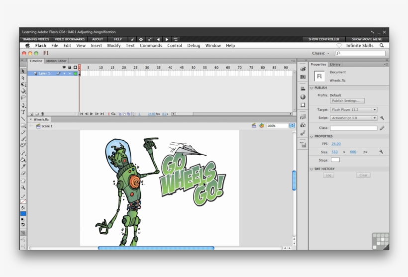 Interface Of Adobe Flash Cs6 Art Transparent PNG - 1394x884