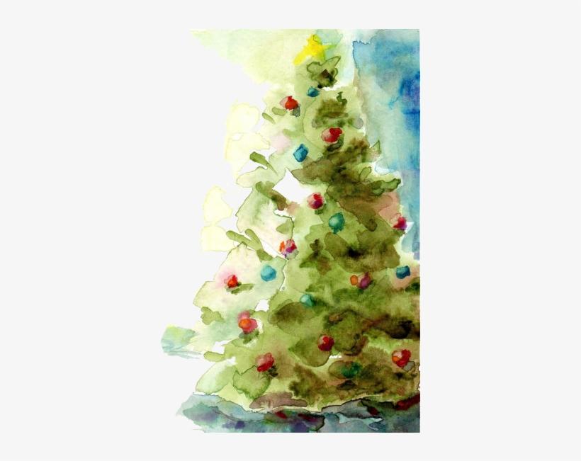 Clip Freeuse Download Watercolor Of A Xmas Tree Watercolor