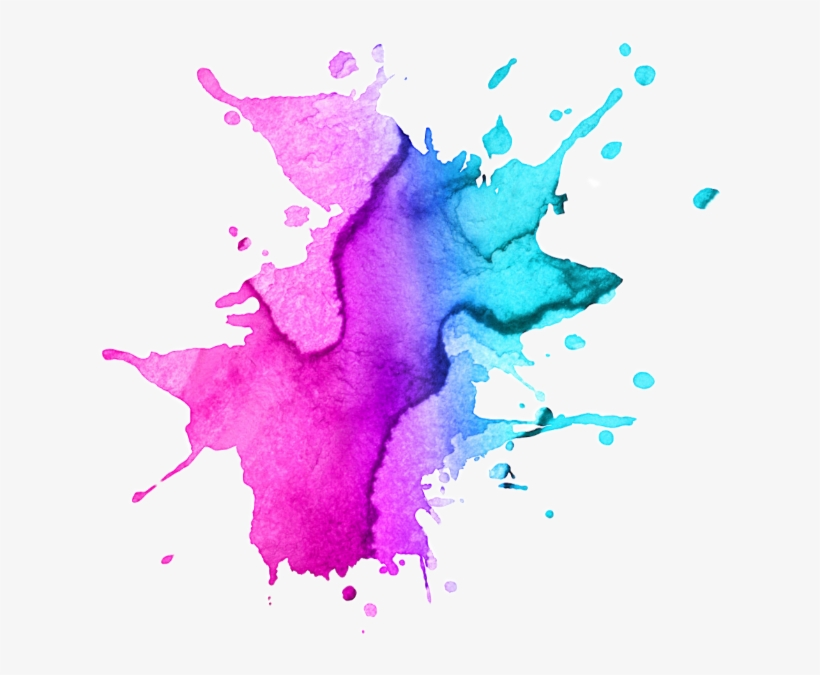 Watercolor Paint Splatter Png Image Royalty Free Stock - Pink And