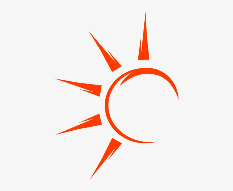 The Sun S Rays Through The Clouds Category Half Sun Vector Png