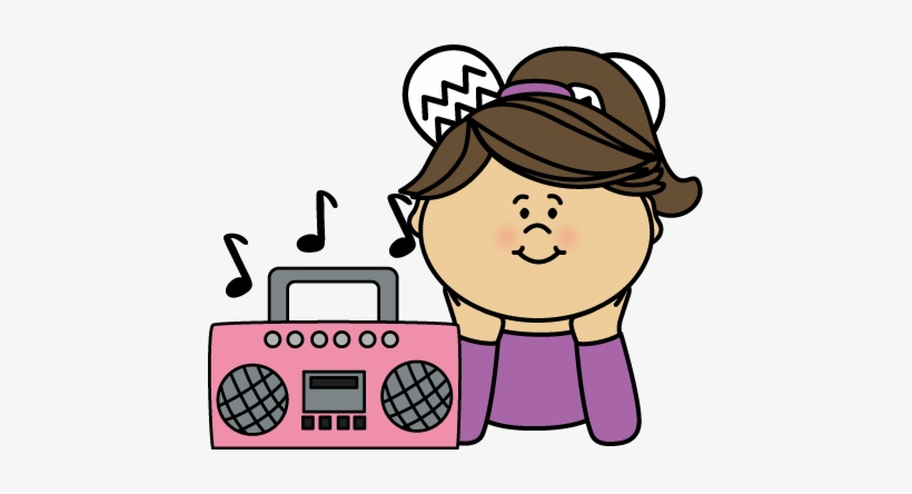 Music Clipart Cute - Listen To Music Clipart Transparent PNG - 445x364 -  Free Download on NicePNG
