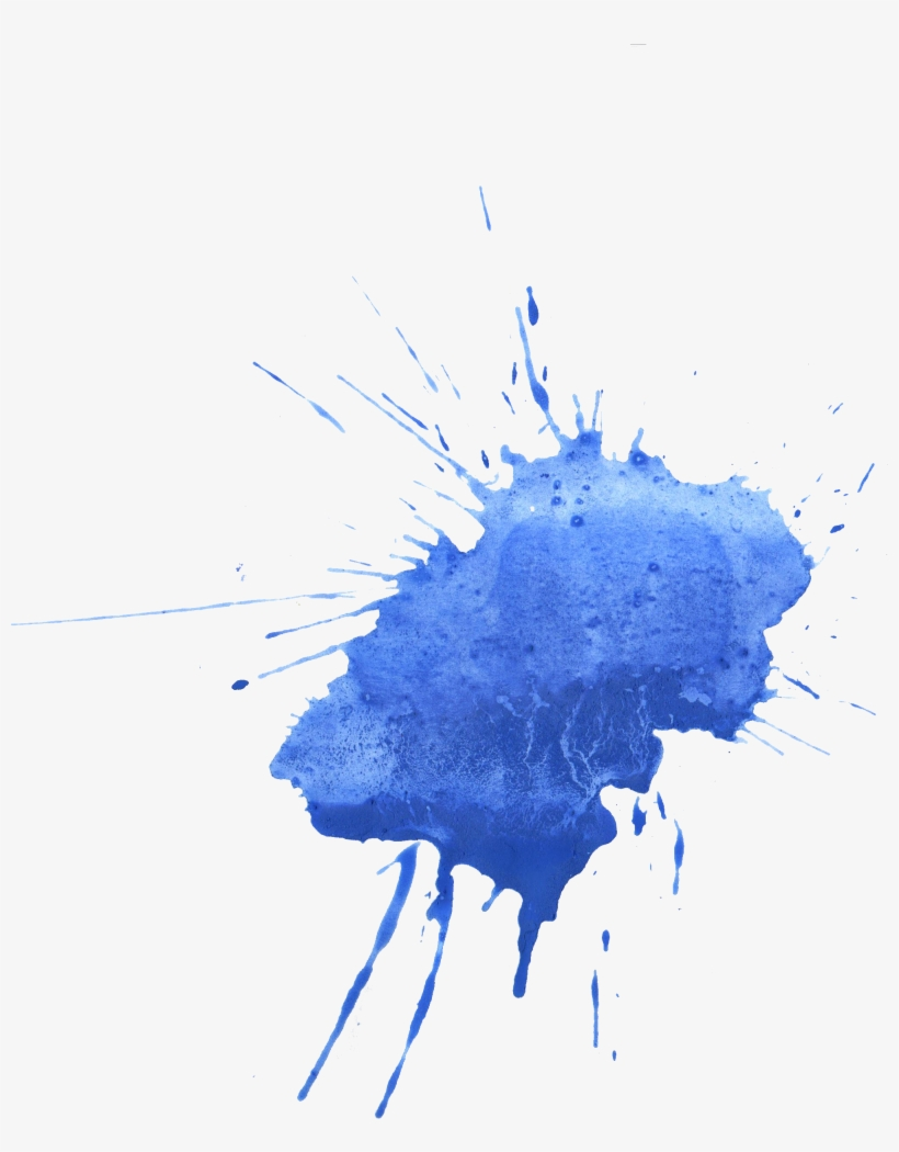 Blue Watercolor Splatter Transparent Png Splash Watercolor ...