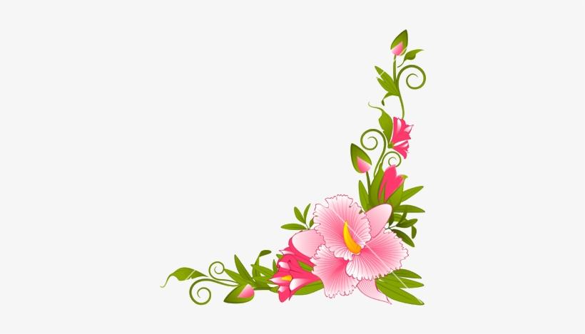 Flower Vector Png Image Purepng: Flower Page Border Designs