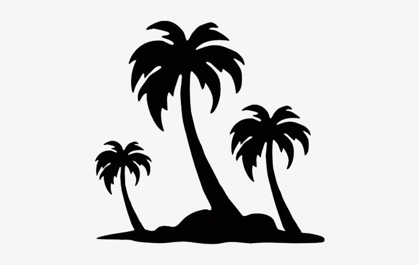 Download Palm Tree Silhouette Drawing Transparent Png 500x500 Free Download On Nicepng