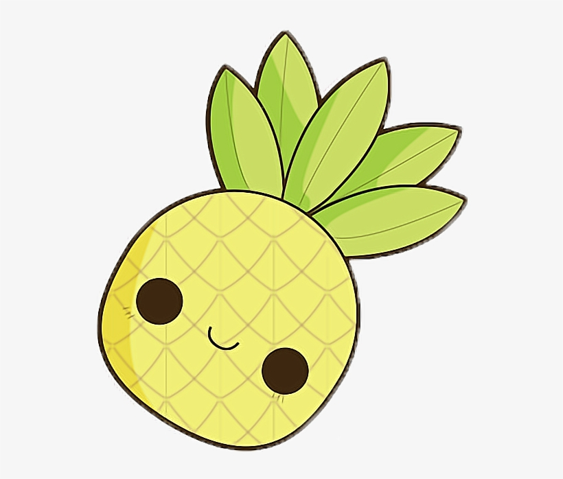 Cute Pineapple Drawing Transparent Png 540x614 Free Download On
