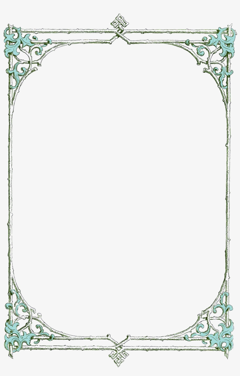 Reading Clipart Border - Lined Paper Book Border - Free Transparent PNG  Clipart Images Download