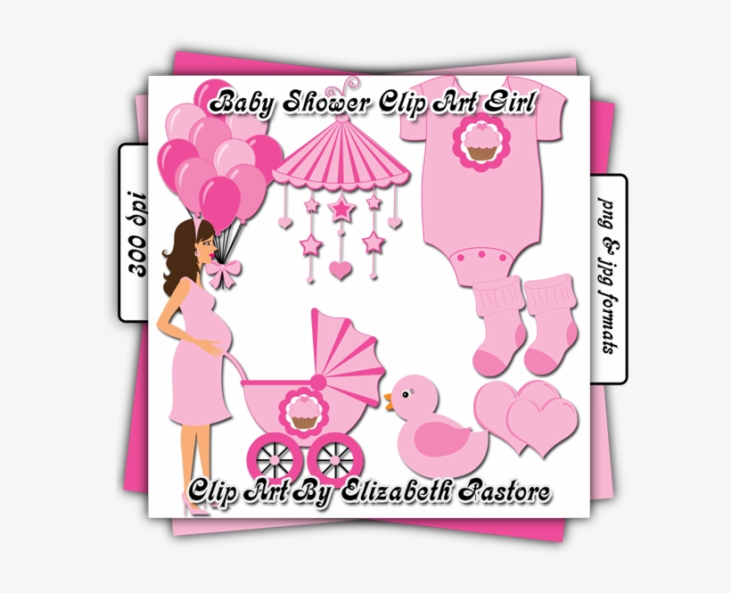 Cute Baby Girl Clip Art Baby Shower Transparent Png 600x600