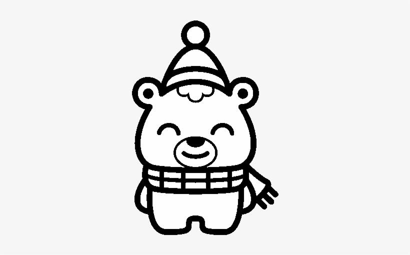 Christmas Little Bear Coloring Page Dibujos De Navidad Kawaii