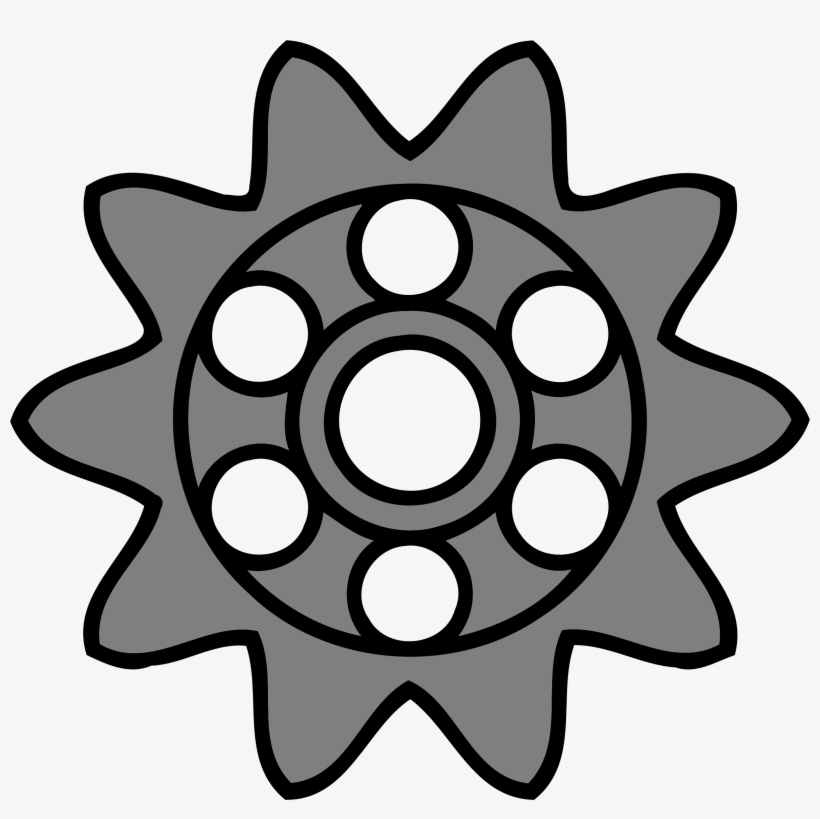 This Free Icons Png Design Of 10-tooth Gear With Circular
