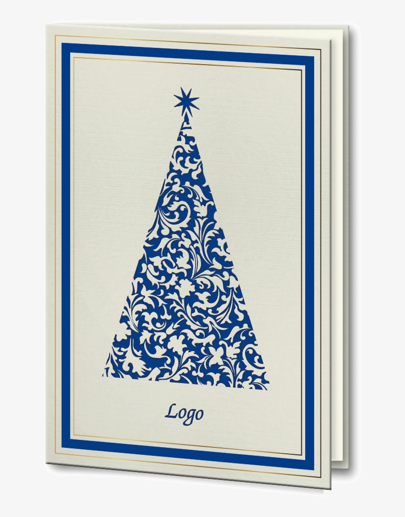 Laser Cut Blue And Gold Foil Christmas Tree Christmas Tree