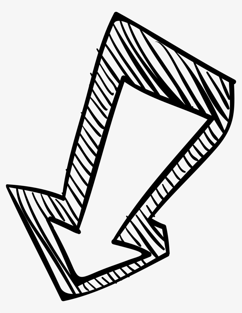 Arrow Pointing Down >> Down Arrow Sketch Arrow Pointing Down Png Transparent Png