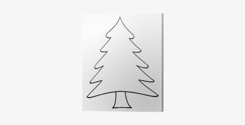 Outline Cartoon Christmas Tree Canvas Print Pixers Pine Tree