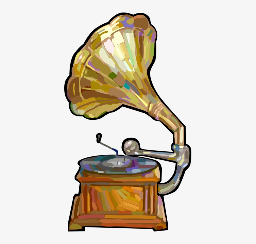 vector illustration of gramophone phonograph record song transparent png 407x700 free download on nicepng gramophone phonograph record song