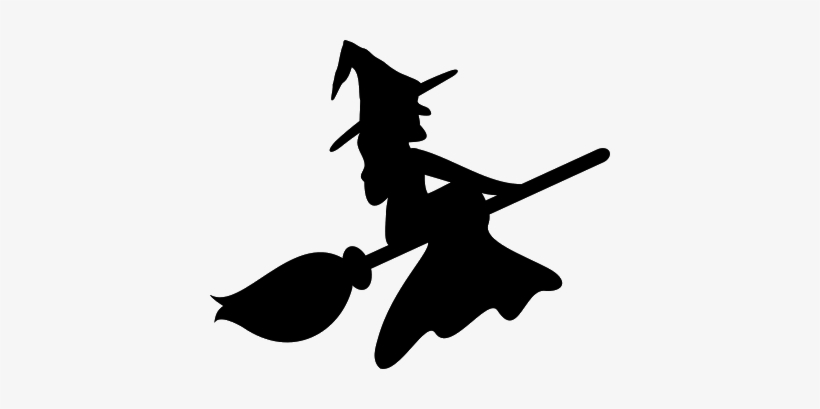 photo relating to Witch Silhouette Printable named 27 Pics Of Umbrella Witch Silhouette Template - Witch