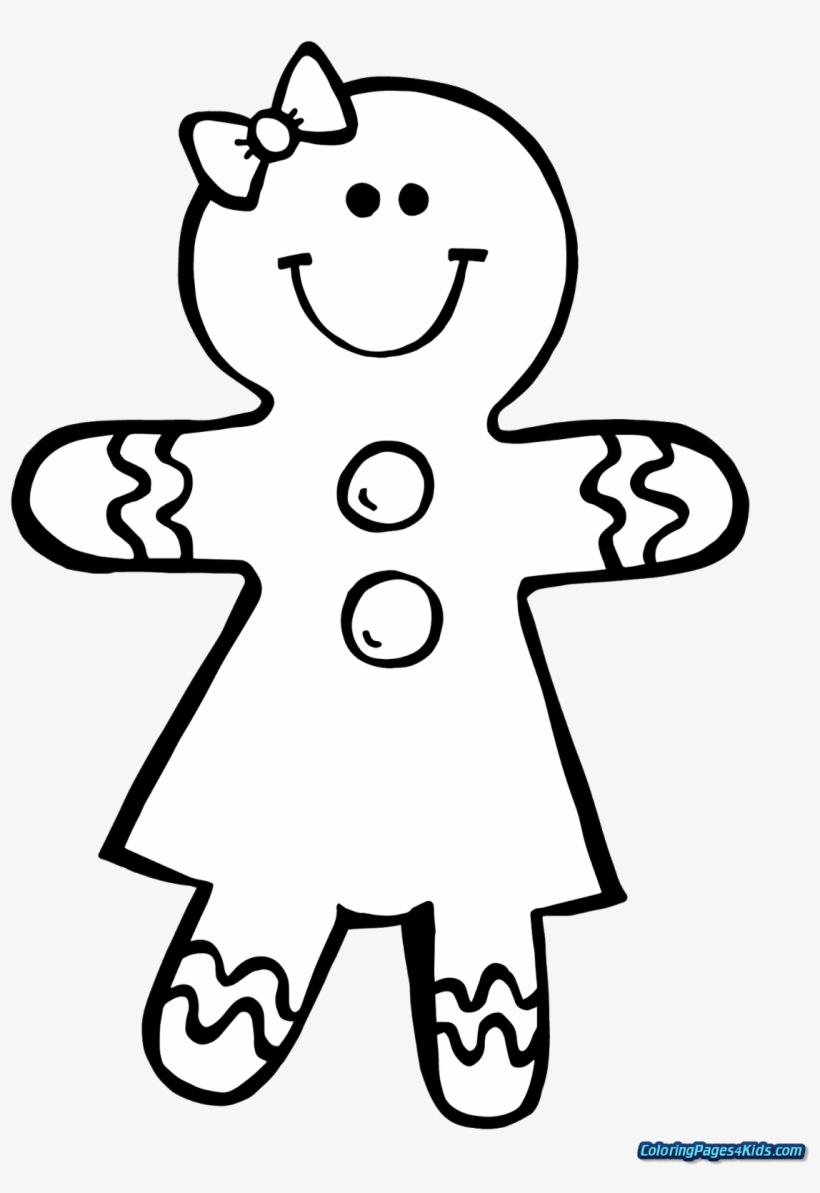 Gingerbread Man Coloring Page Coloring Pages For Kids Ginger Bread