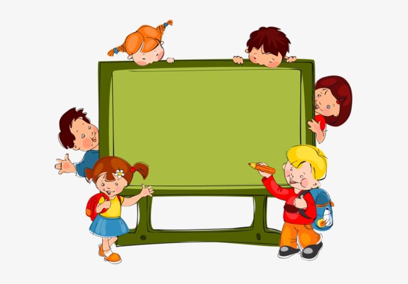 Fonds Pour Creas Enfants 4 School Clipart School Border Kids School Transparent Png 600x491 Free Download On Nicepng