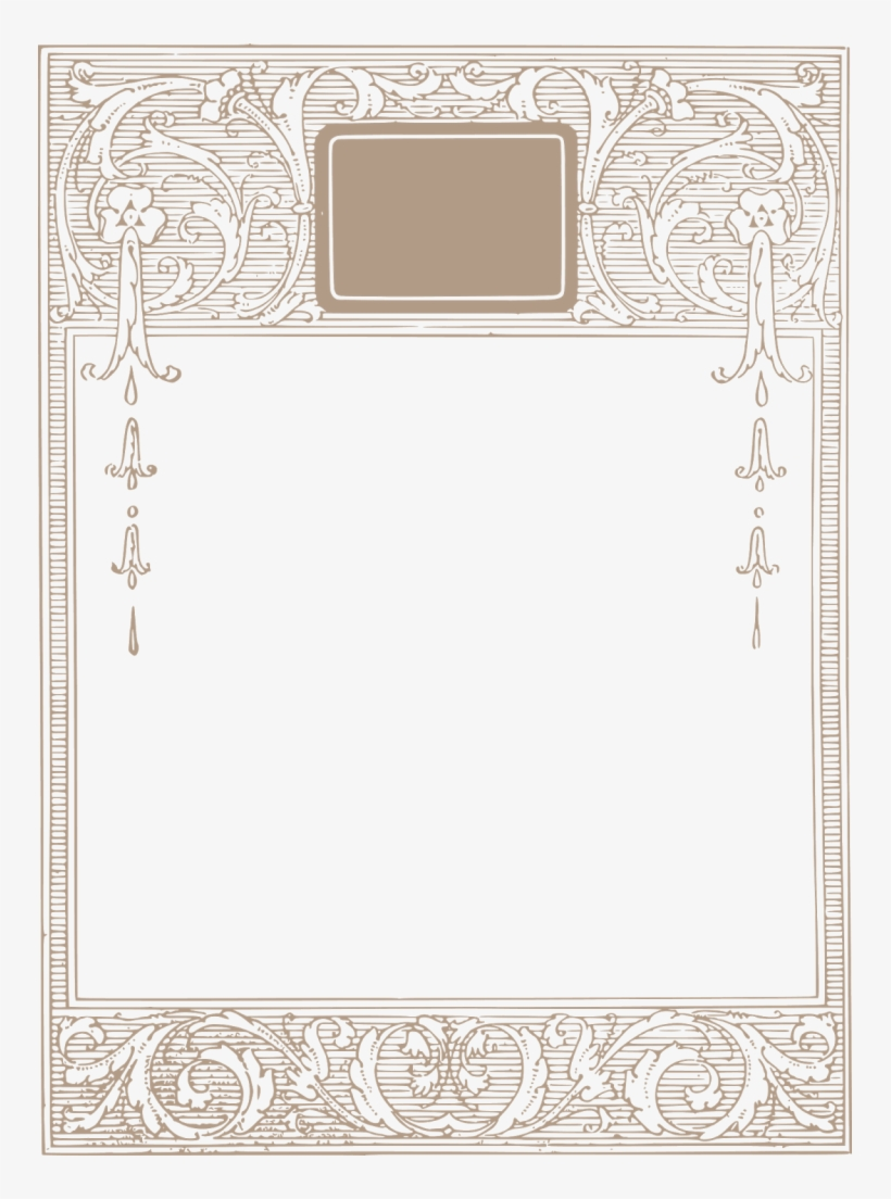 Vintage Borders Borders Frames Ornaments Free Clip Art Transparent Png 749x1024 Free Download On Nicepng
