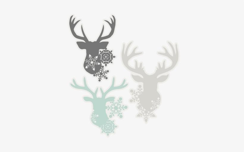 Snowflake Deer Head Set Svg Scrapbook Cut File Cute Cricut Transparent Png 432x432 Free Download On Nicepng