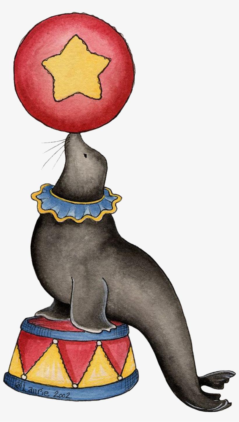 Circus Animals - Circus Seal Clip Art Transparent PNG ...