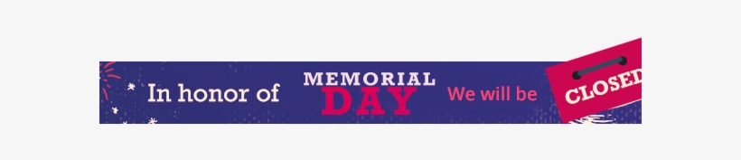 graphic regarding Closed Memorial Day Sign Printable named Memorial Working day Shut Barra Footer2 - Times Of The 7 days