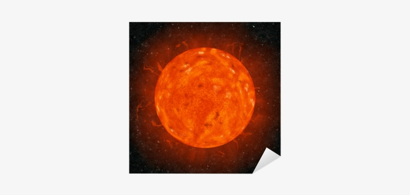 Realistic Sun Against The Stars Background Sticker - Outer