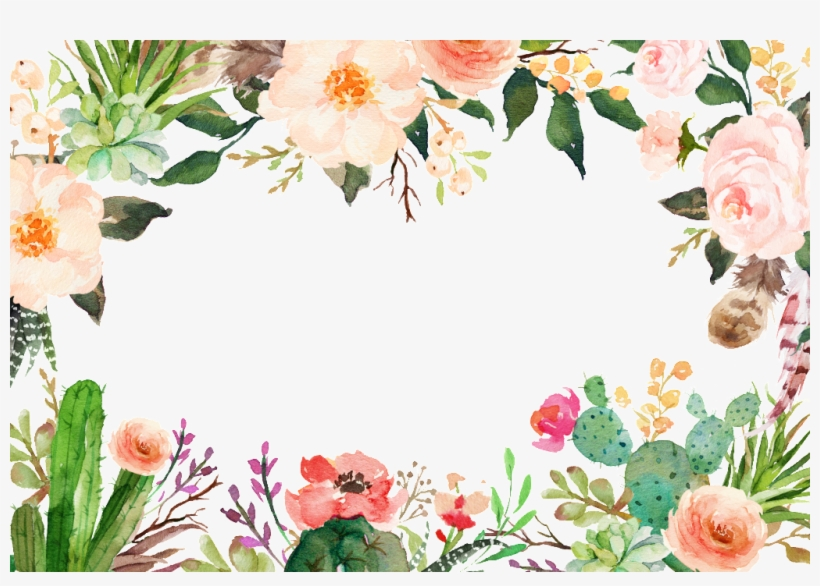 Various Flowers And Lace Transparent Decoratives Watercolor Flower