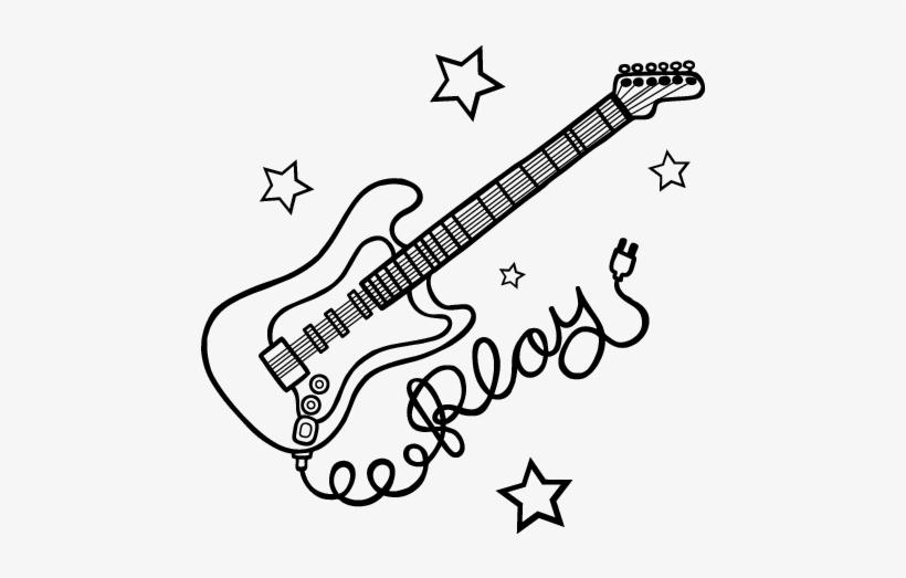 Desenho De Guitarra De Eva Transparent Png 600x470 Free