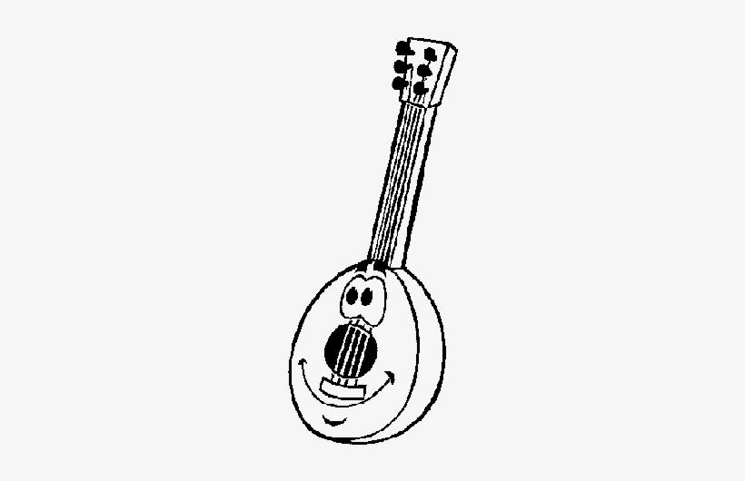 Guitarra Portuguesa Para Colorir Transparent Png 505x470 Free