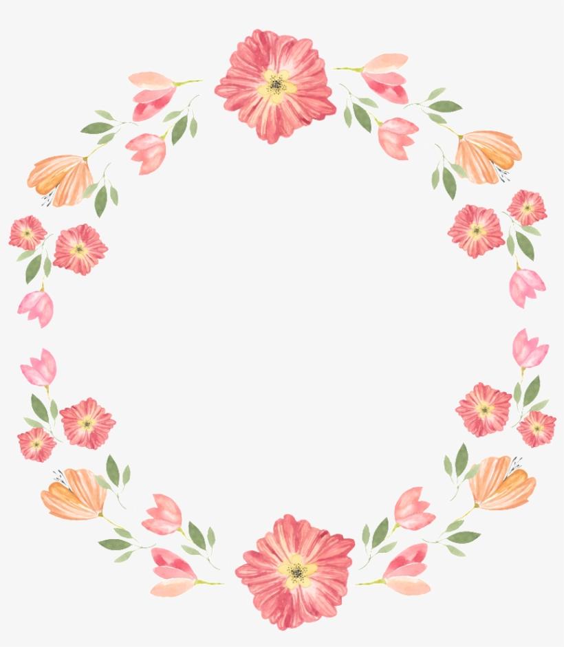 Corona De Flores Rosas Png