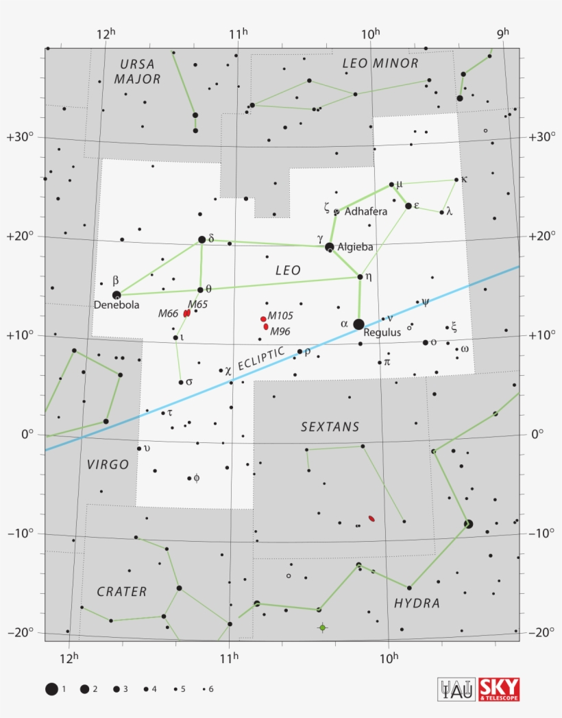 Leo Constellation Star Map Transparent PNG - 1200x1475 - Free