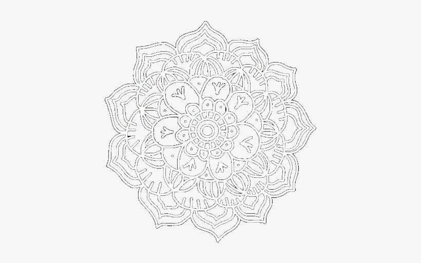 Png Mandala Pngmandala Mandalapng - Flower Overlay For Edits