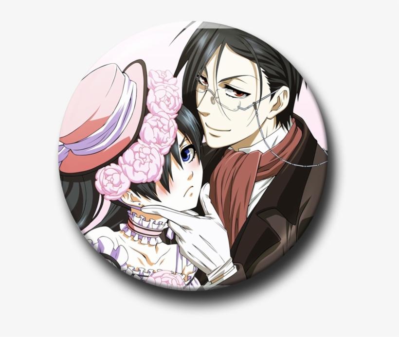 Black Butler Sebastian Manga Panel Pin Button