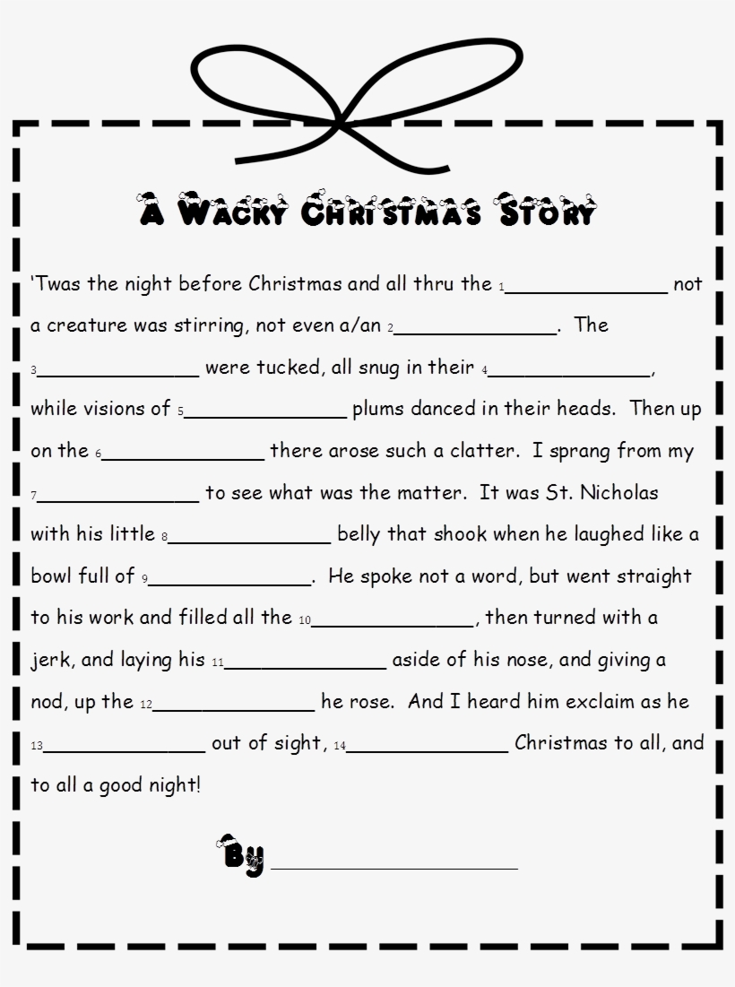 picture relating to Christmas Mad Libs Printable Free known as Xmas Ridiculous Libs For Children, Xmas Celebration Game titles