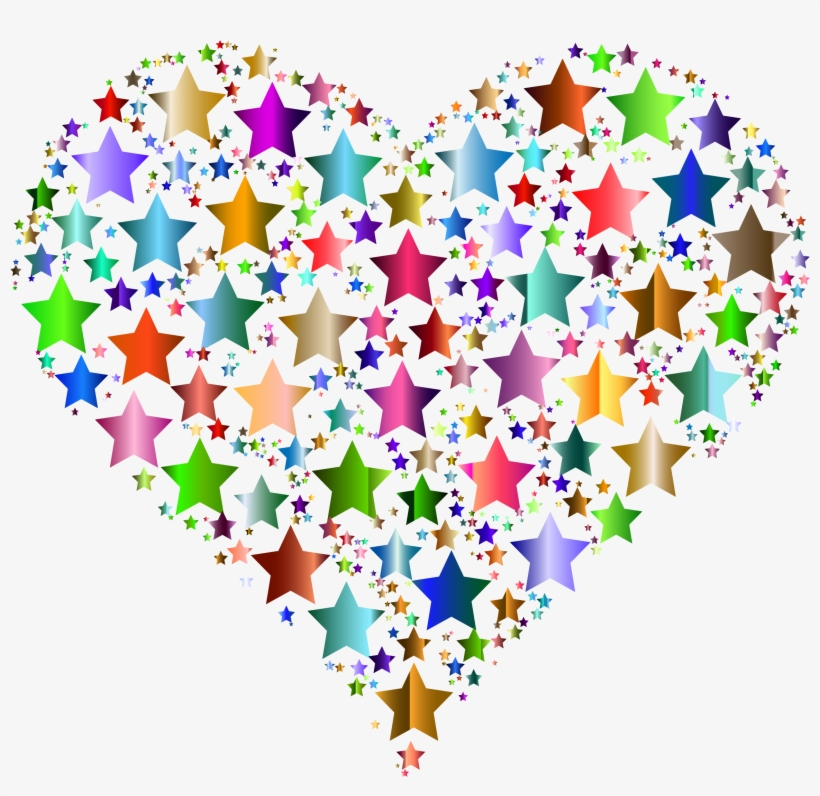 Hearts And Stars Clipart Colorful Heart Transparent Background Transparent Png 2312x2132 Free Download On Nicepng
