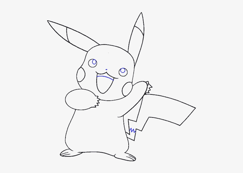 How To Draw A Pikachu Easy Drawing Guides Drawing Transparent Png